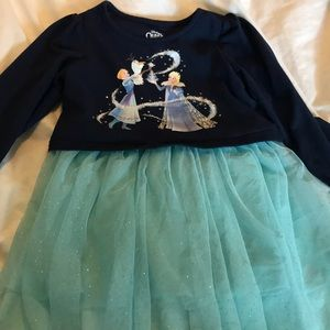 Used 4t Olaf frozen adventure overlay dress